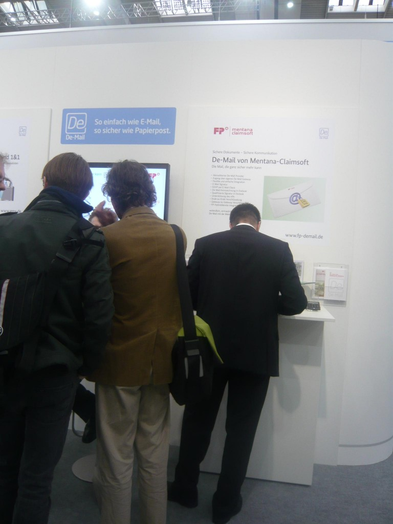 De-Mail Stand in Halle 7