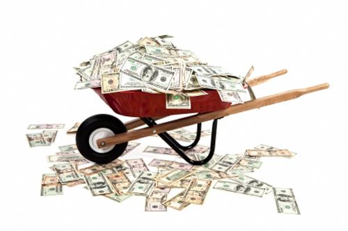 Schubkarre voll Geld